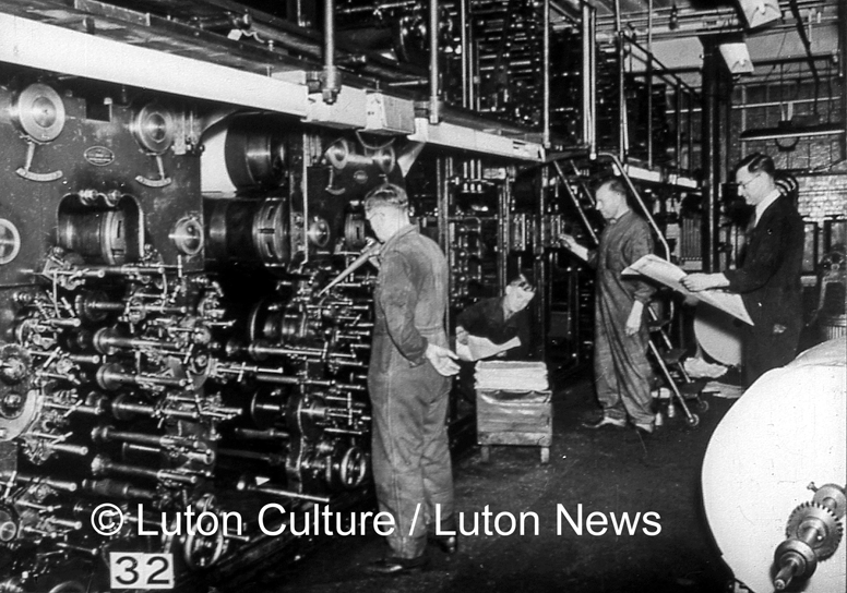 Luton News press, Alma Street