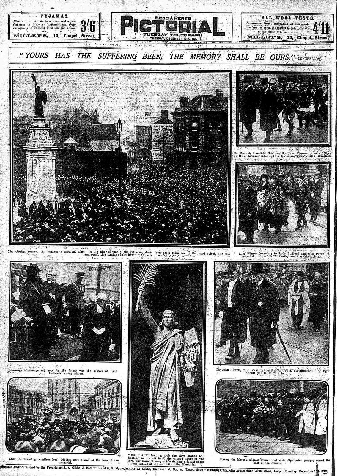 Scenes at the war memorial unveiling