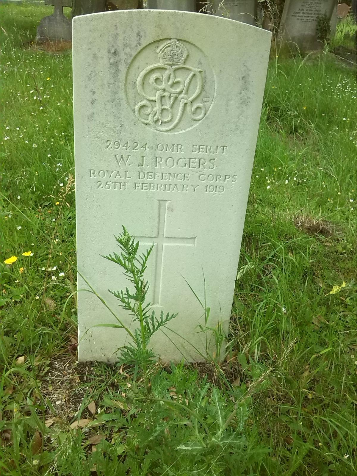 William Rogers headstone