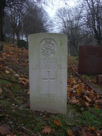 Pte Charle Edward Payne gravestone