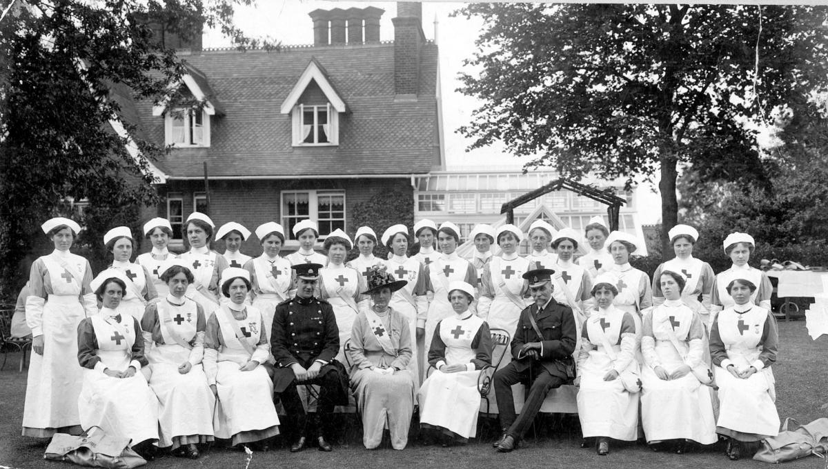 Mrs Green Centre. Wardown nurses at The Larches