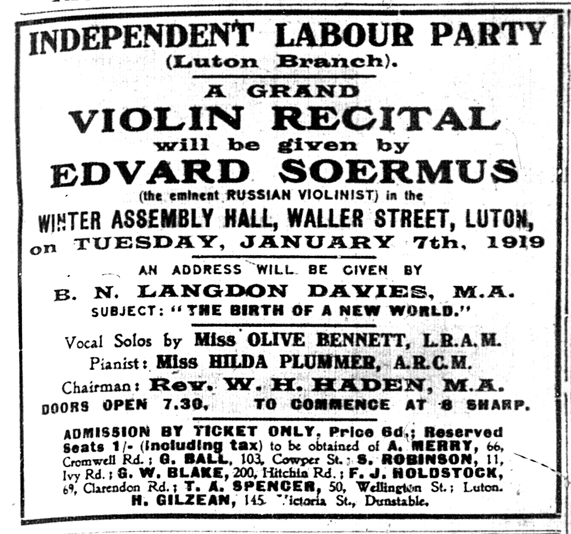 Soermus concert advert