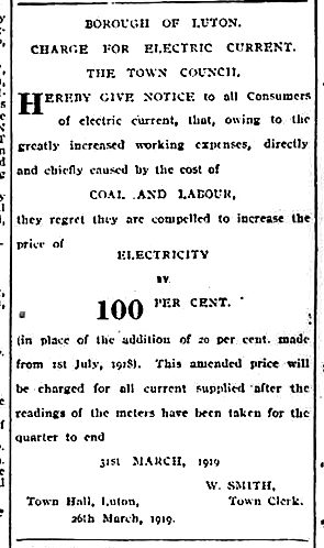 Electricity price rise