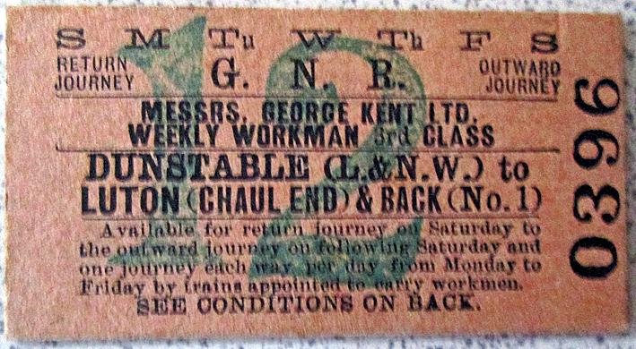 Chaul End rail ticket