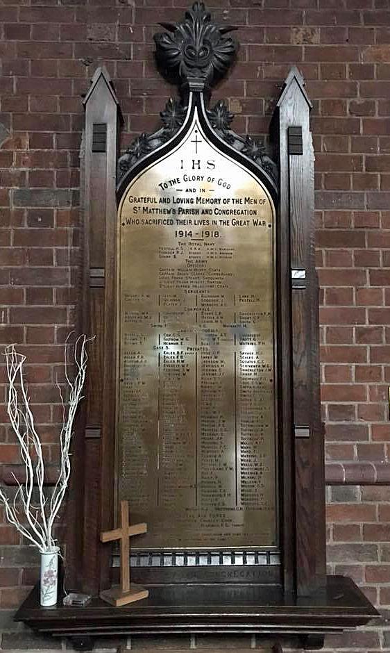 St Matthew's Church war memorial