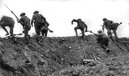 Troops going over the top