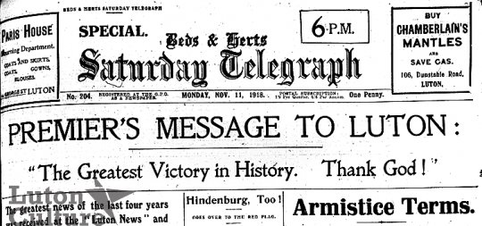Armistice Day Saturday Telegraph 1918