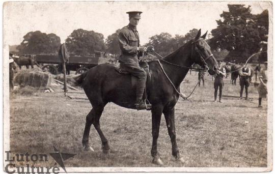 Frank Cashman on horseback