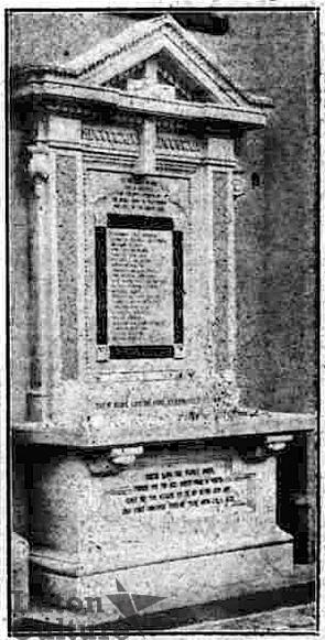 Chapel Street Wesleyan Church memorial