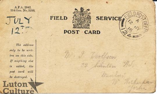 field service postcard great war stories