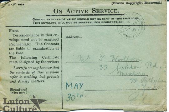 green envelope mail on active service great war stories