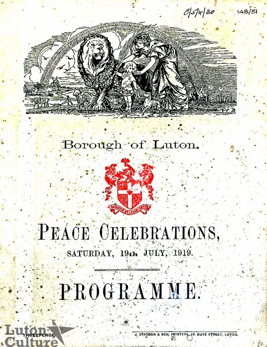 Luton Peace Day programme cover