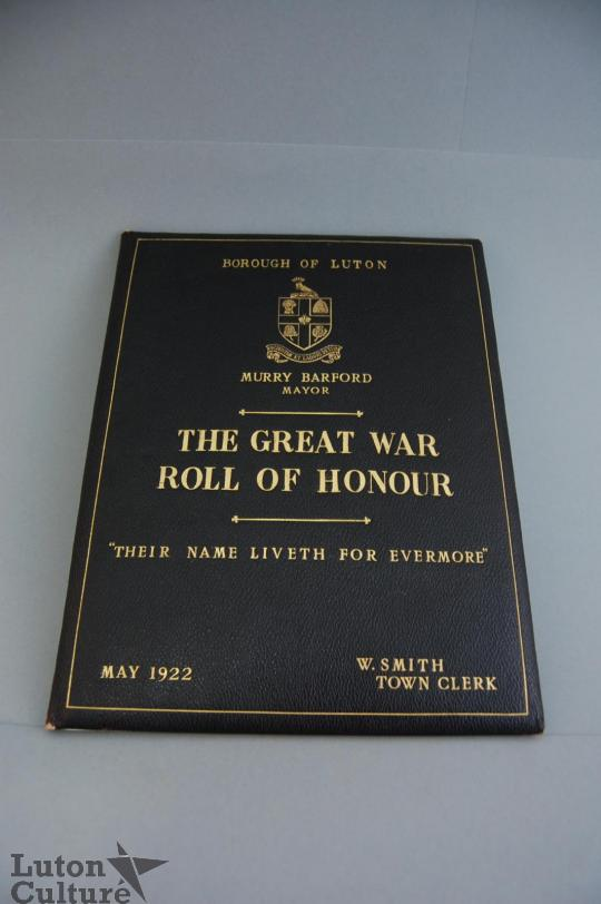 Front Cover of the Roll of Honour