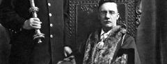 Mayor Henry Impey, macebearer Frederick Ringall
