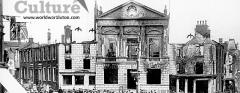 Burnt-down Town Hall, July 20, 1919