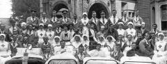 Wardown Hospital staff and wounded soldiers