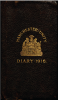 Front cover of 1916 Diary of WE Owen