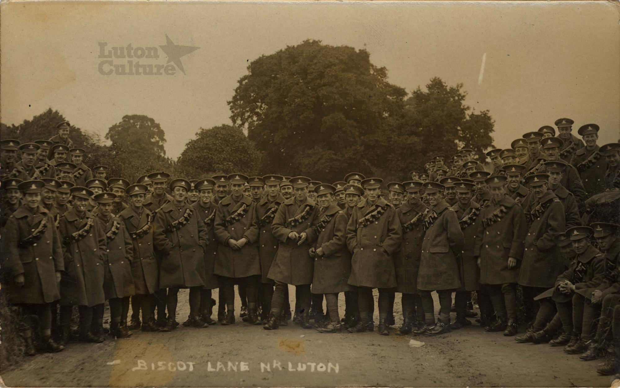 Soldiers on Biscot Lane Luton