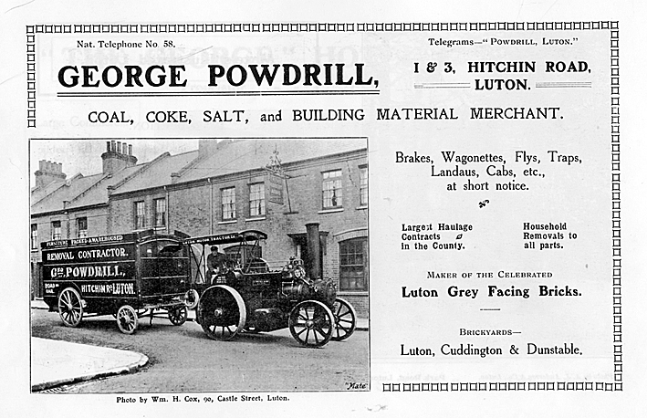 George Powdrill advert 1907